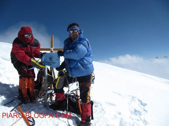 من و همسرم(فرح منصوری) بر فراز قله خان تنگری